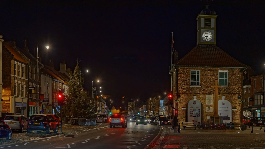 Yarm High Street at night
