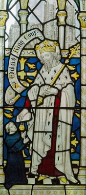 Stained glass window in Chester Cathedral