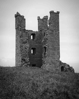 Tower in Dunstanburgh Castle, Northumberland