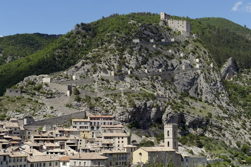 Wide angle view of Entrevaux, Provence