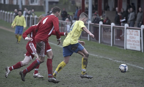 Action from Bedlington Terriers FC 3 - 3 Sunderland RCA FC