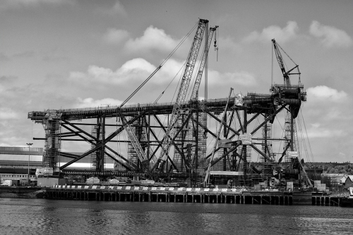 Rig construction at OGN Tyneside, Tyneside